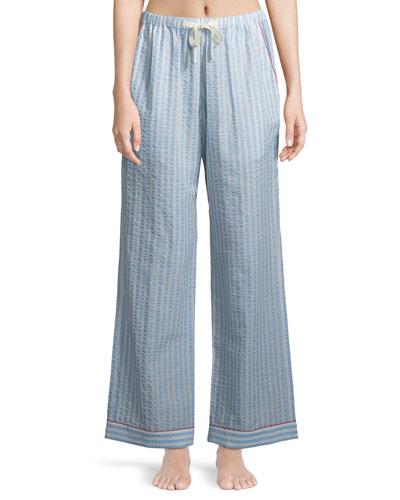 Chantal Striped Seersucker Pajama Pants
