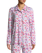 Aubrie Lip-Print Pajama Top