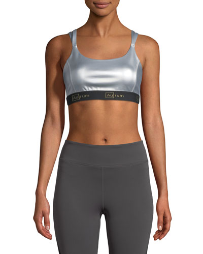 57dc9defbbed2 Quick Look. Aurum · Confidence Double-Strap Power Mesh Sports Bra.  Available in Silver