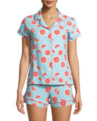 Grapefruit Shortie Pajama Set
