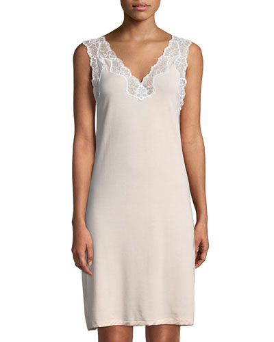 Met Tropical Lace-Trim Nightgown