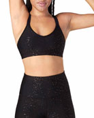 Double Back Alloy-Speckled Sports Bra