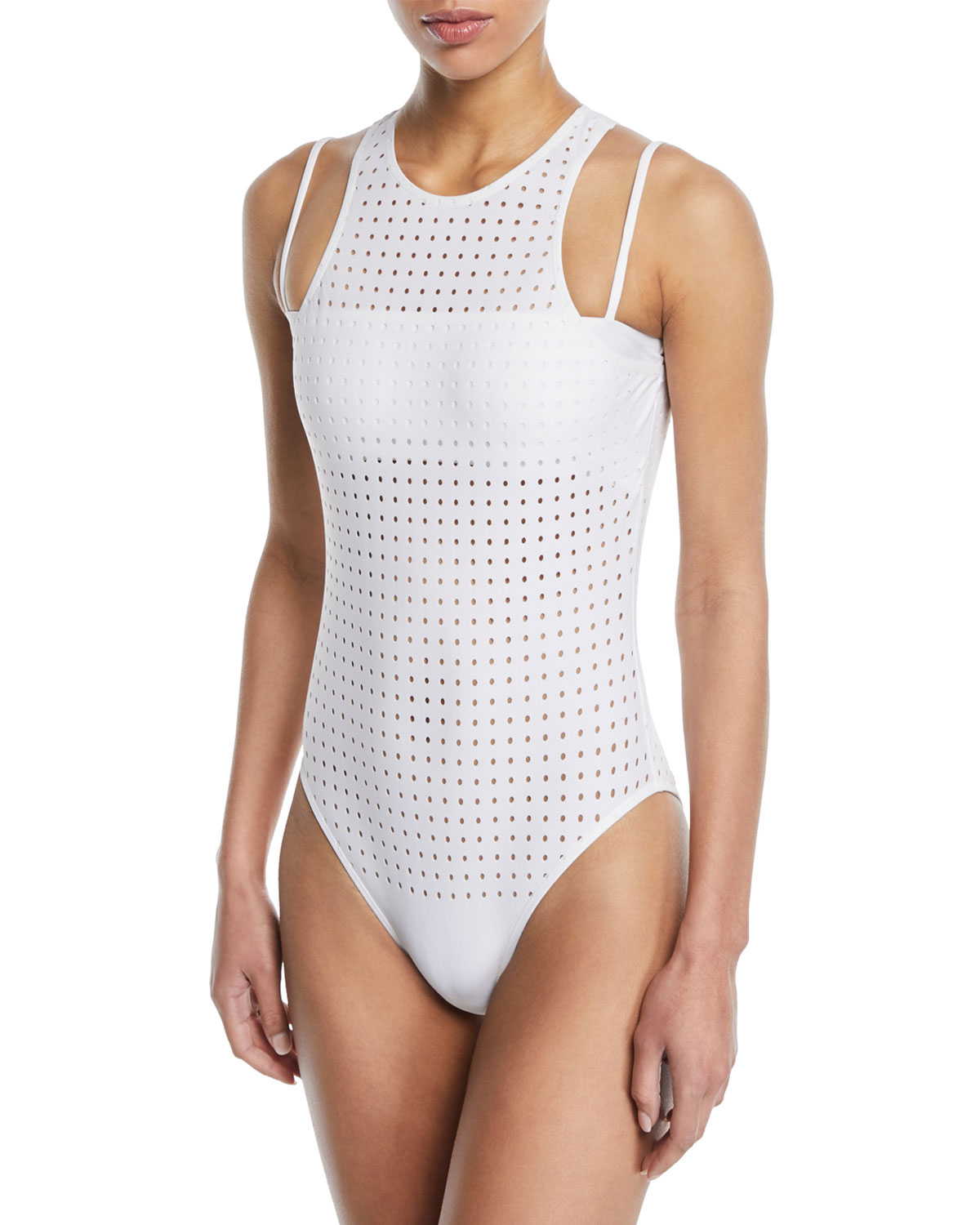 Violette Perforated One-Piece Swimsuit