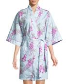 Bedhead Wisteria Short Kimono Robe