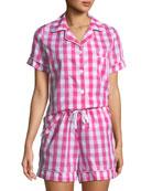 Bedhead Gingham Shorty Pajama Set
