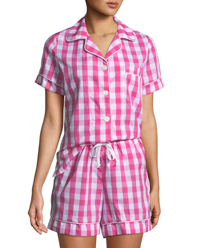 Gingham Shorty Pajama Set