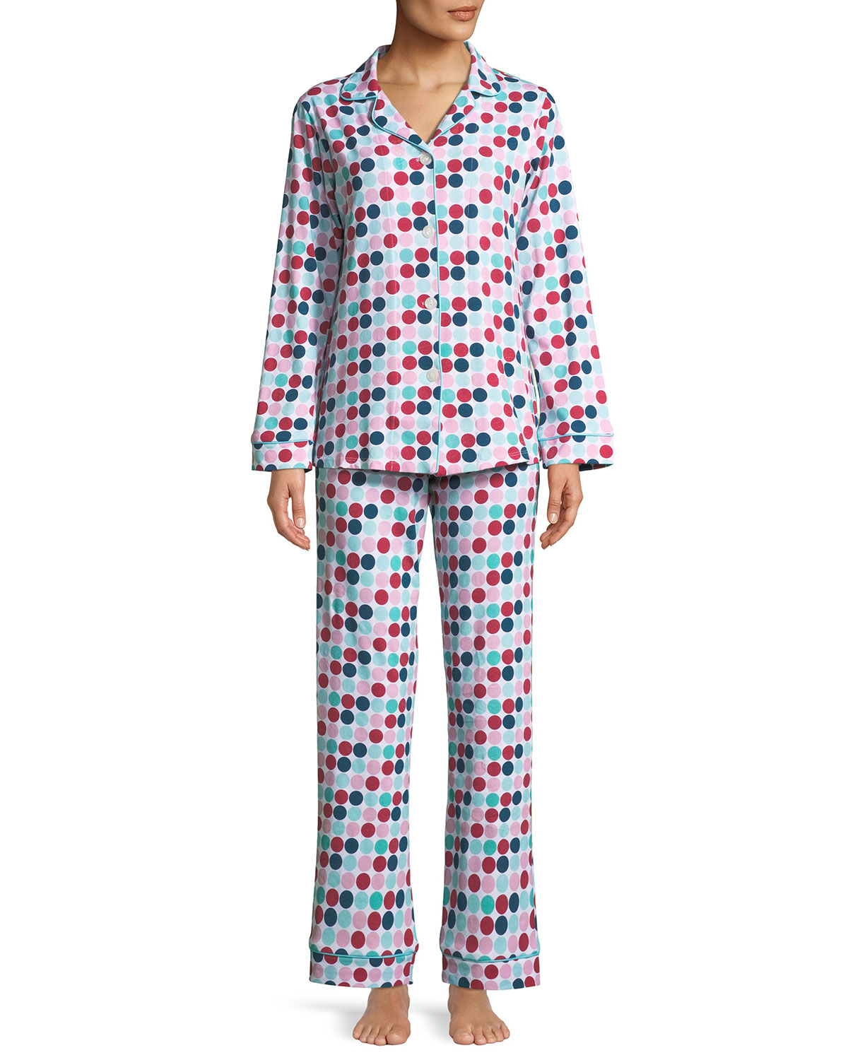 Candy Dot Classic Pajama Set, Multi Pattern