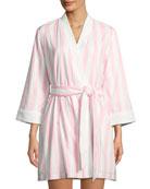 bay striped robe