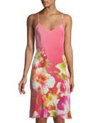 Paradis Floral Silk Nightgown