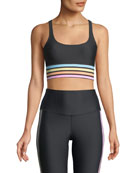Leah Rainbow-Stripe Sports Bra