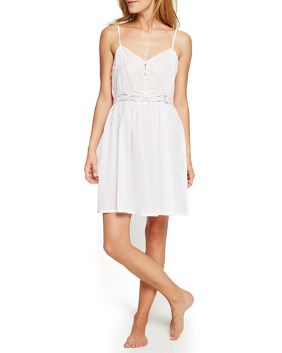 Short Lace-Inset Nightgown