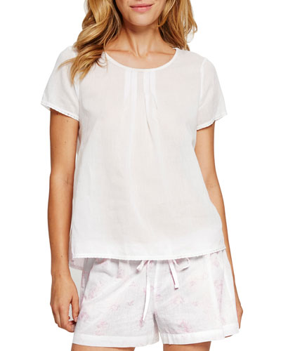 Tie-Back Cotton Lounge Top