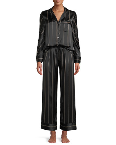 192573f35d Quick Look. Neiman Marcus · Pinstripe Two-Piece Pinstripe Silk Pajama Set