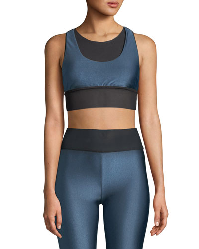 e42e3175aca65 Quick Look. Koral Activewear · Utopia Layered Mesh Sports Bra. Available in  Blue