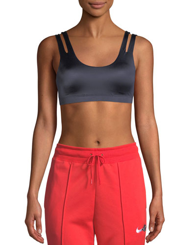 Indy Scoop-Neck Shine Light-Support Sports Bra