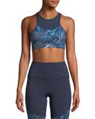 Nike Swoosh Printed Medium-Support Sports Bra