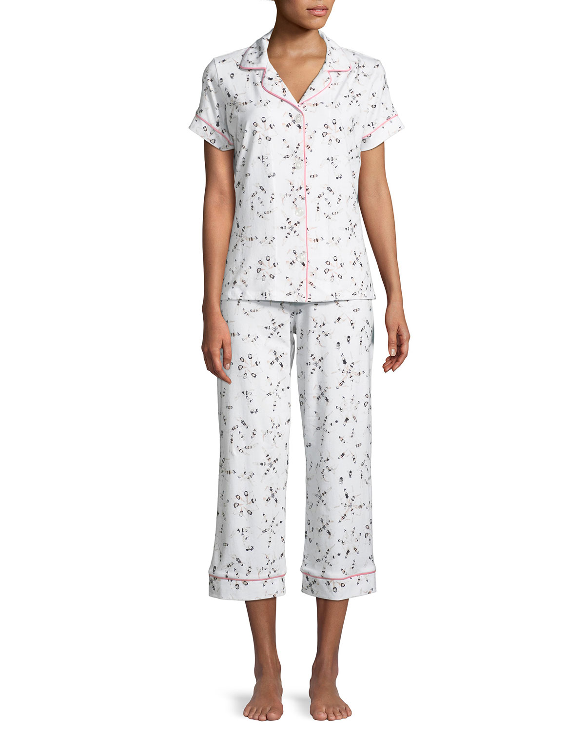BEDHEAD SYNCHRONIZED SWIMMERS CROPPED PAJAMA SET