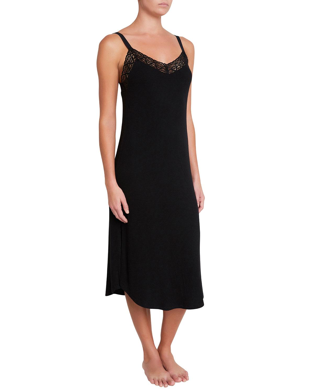 Kaia Lace-Trim Nightgown
