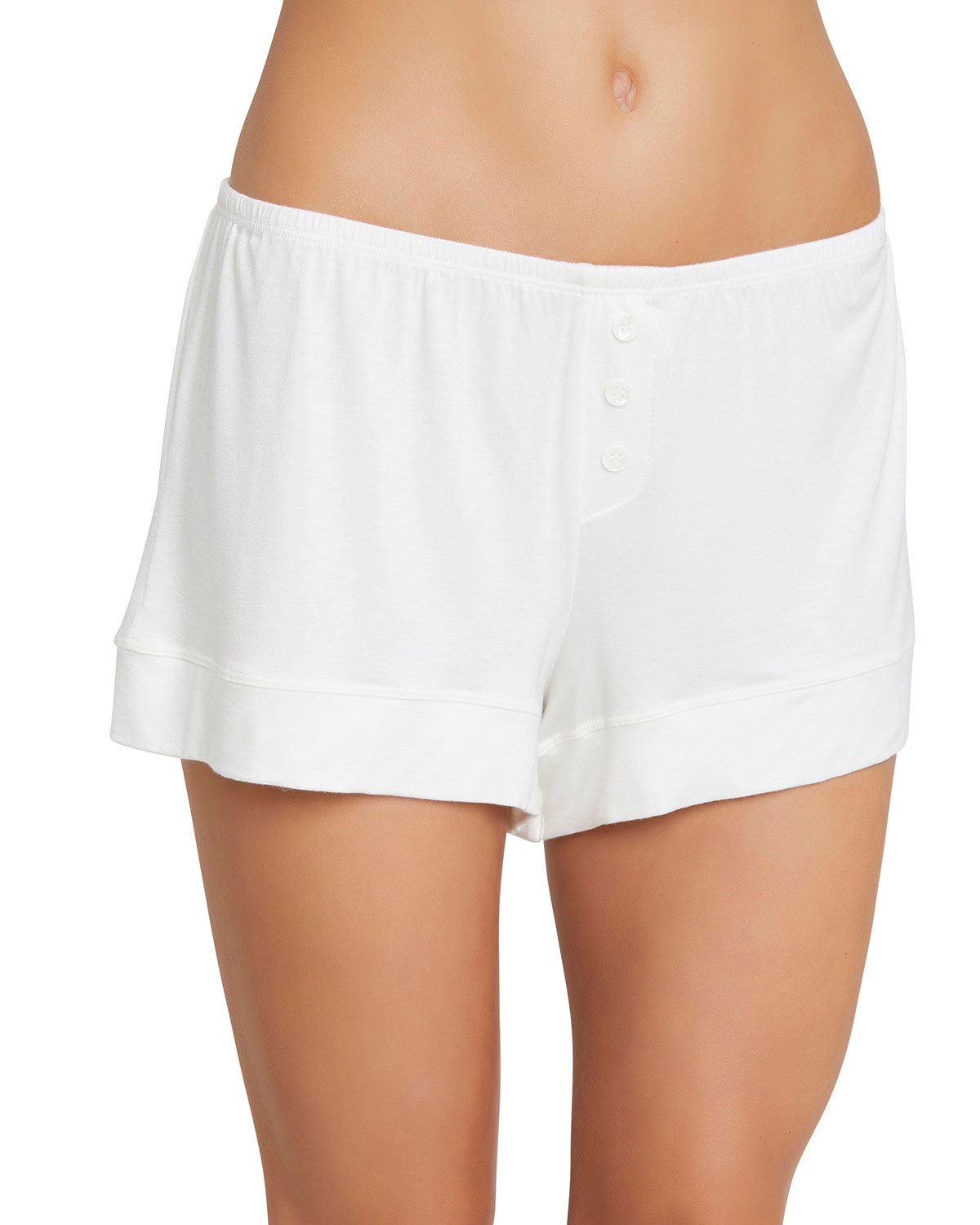 Agnes Boyfriend Lounge Shorts in Ivory