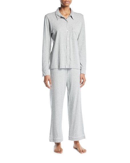Skin Penelope Classic Long Pima Cotton Pajama Set