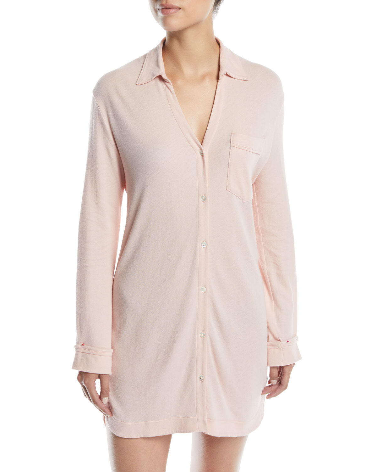 April Button-Front Sleepshirt