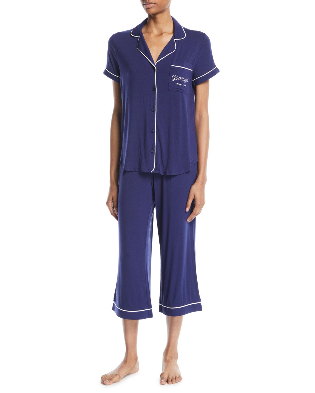 goodnight cropped pajama set