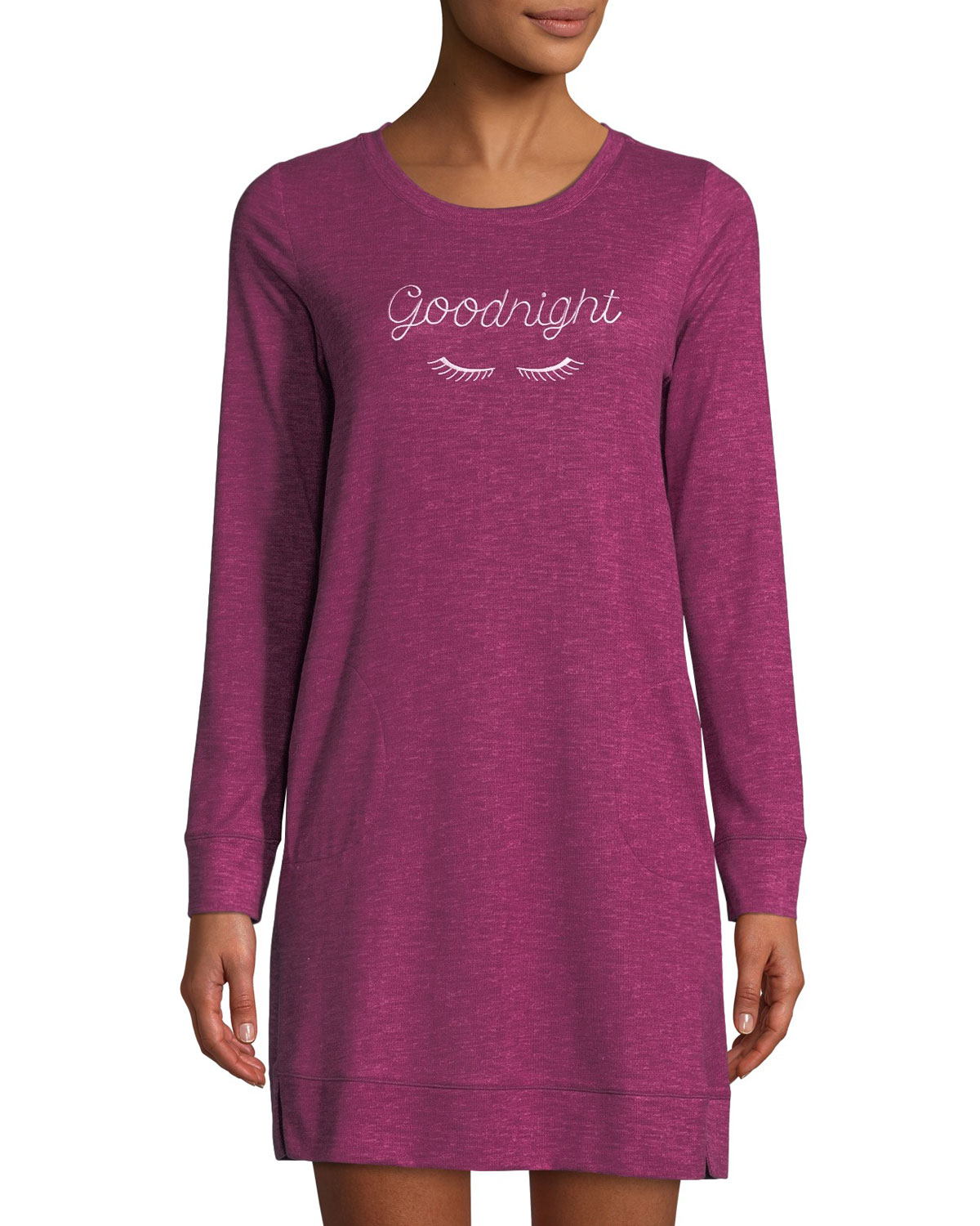 goodnight cozy knit sleepshirt