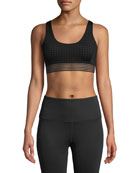Aurum Breath In Strappy Mesh Sports Bra