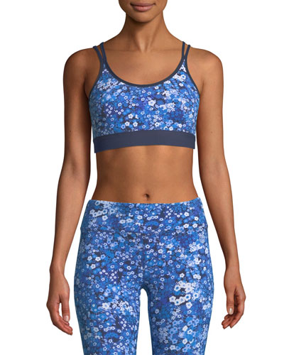 e914fa648f Blue Nylon Sports Bras