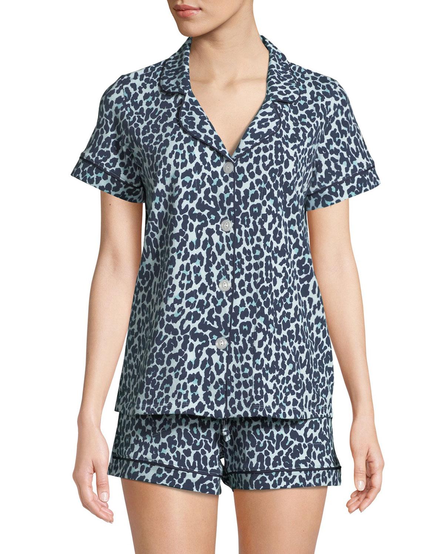 Cheetah Knit Shortie Pajama Set