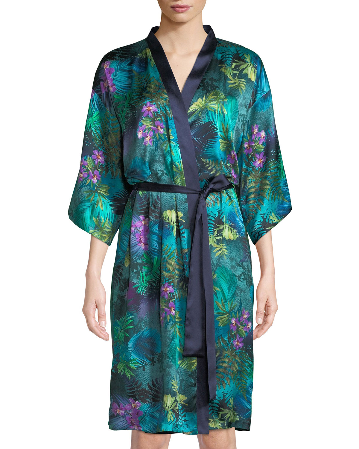 Foret Lumiere Silk Robe