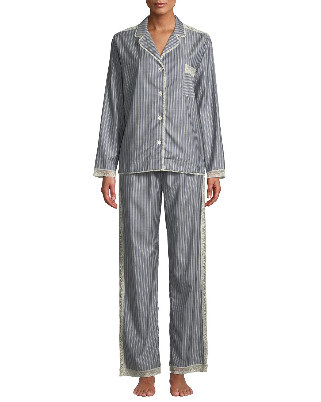 Ines Striped Wool Classic Pajama Set