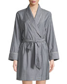Morpho + Luna Alix Striped Wool Short Robe