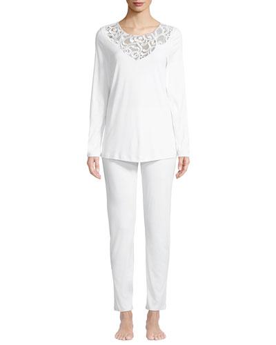 cf45c5d661 Hanro Long Sleeve Pajama