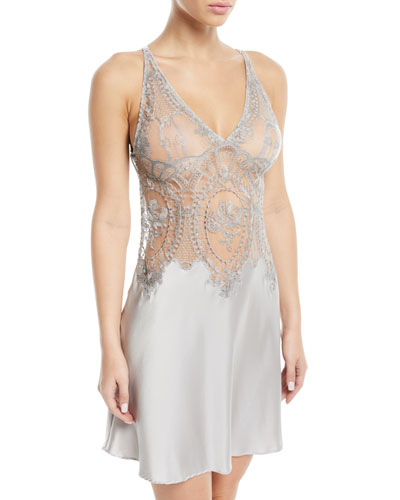 Coupe de Foudre Silk Lace Chemise Nightgown