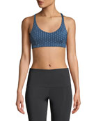 Onzie Pyramid Strappy Dotted Low-Impact Sports Bra