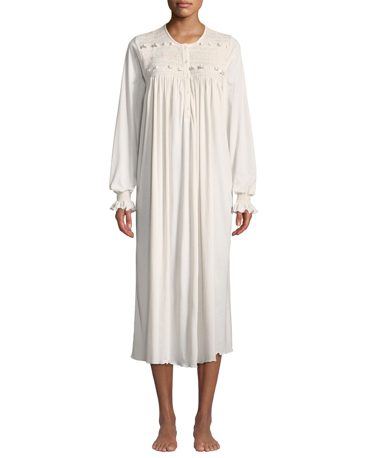 Manuela Long-Sleeve Long Nightgown