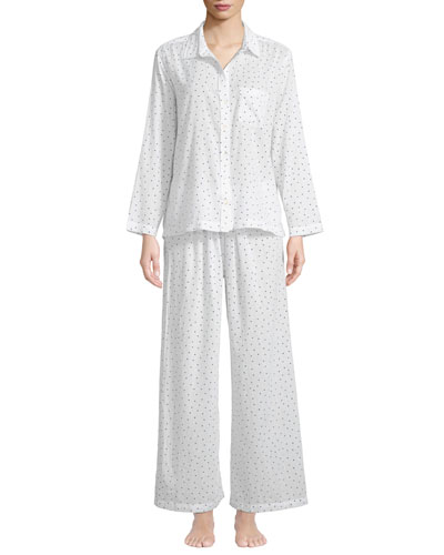 Stars Poplin Classic Pajama Set