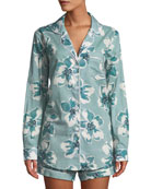Desmond & Dempsey Floral-Print Classic Short Pajama Set