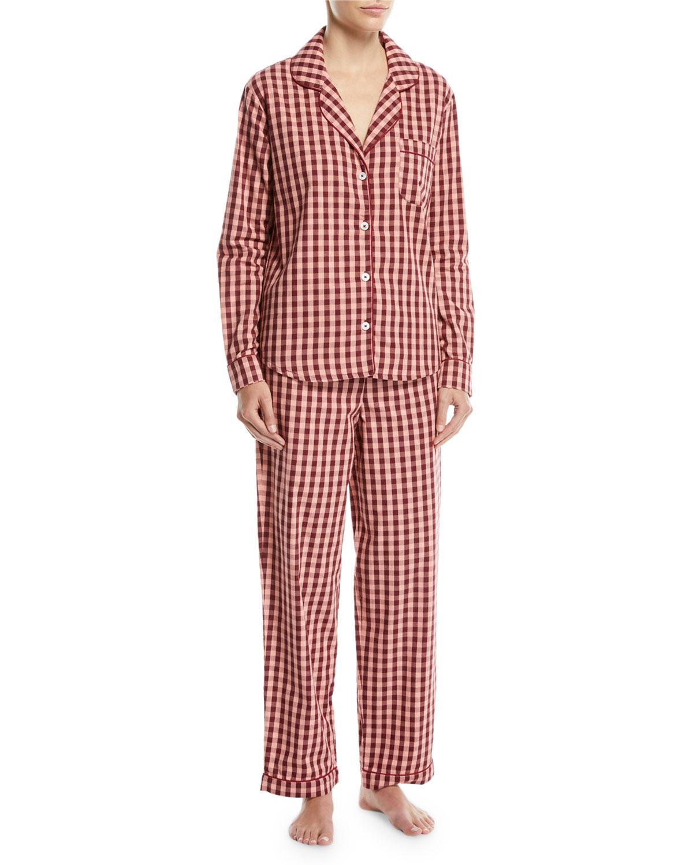Gingham Long-Sleeve Pajama Set
