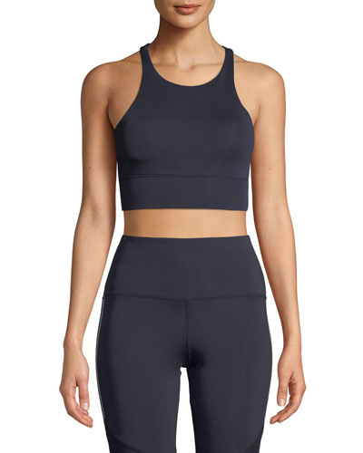 Delancy Racerback Performance Crop Top