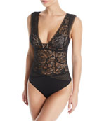 Maison Lejaby Dot Flowers Lace Bodysuit