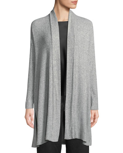 Ulla Rib-Knit Long Lounge Cardigan