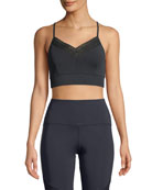 Nylora Hadley Metallic Cross-Back Sports Bra