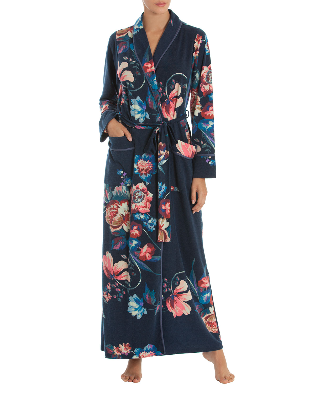 Floral-Print Long Robe