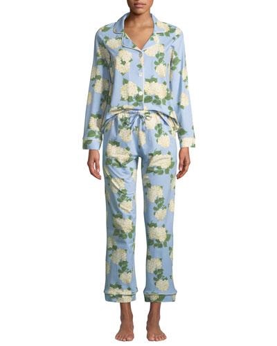Plus Size Hydrangea Classic Pajama Set