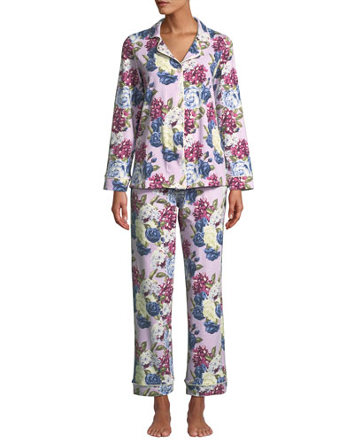 Plus Size Floral Jewels Classic Pajama Set