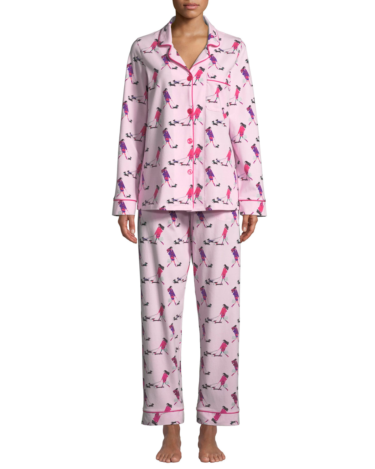 BEDHEAD Shoppers Classic Pajama Set in Pink Pattern