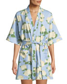 Bedhead Hydrangea Short Robe