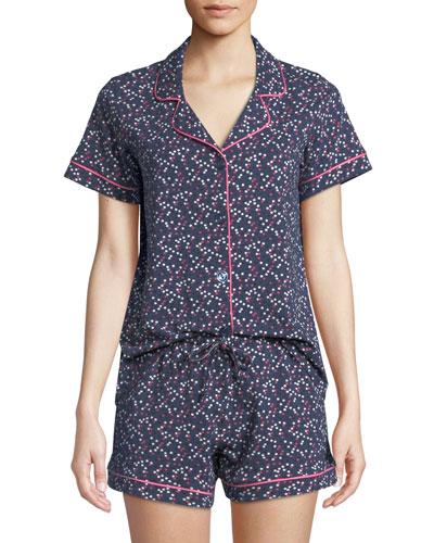 Confetti Two-Piece Shorty Pajama Set